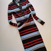 Новое! Платье в рубчик с длинным рукавом, полоска Primark