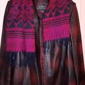 Женская куртка натуральная кожа 54-58р. В подарок шарф