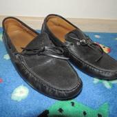 Кожаные натуральные туфли zara 42 размер 27,5 см нюанс