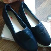 Туфли лоферы на платформе. Р. 40 (39) / (25,5 см)