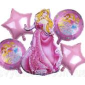 Набор фольгированных шаров Принцесса, 5 шт