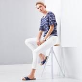 стильные джинсы с вышивкой, длиной 7/8 от ТСМ Tchibo (Германия). размер евро 46 (наш 52)