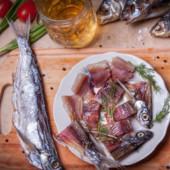 Рыба лот 500 грам чехонь вяленая