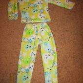 плюшевая пижама на 5-7 лет.в идеале