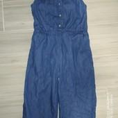 Лёгкий джинсовый ромпер 3-4года замеры на фото