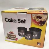 Формы с гранитный покрытием для выпечки cake set a-plus 12,5/14,8/16,3
