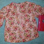 Нежнейшая фирменная кофточка-накидка,на девочку 8-10 лет