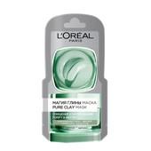 L'Oréal Очищающая маска с натуральной глиной и эвкалиптом/ Лореаль