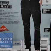 Chino slim fit Livergy евро 38 наш L 54 черные