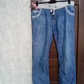Фирменные новые красивые джинсы с трикотажной резинкой р.16-20