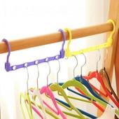 """Экономит место в шкафу: многофункциональная вешалка - платформа для вешалок """"Цепочка"""""""
