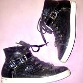 Чёрные женские ботинки кеды от replay