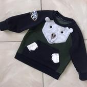 Стоп !❤ Интересный стильный свитшот с карманом-кенгуру для мальчика,+-2 года❤ Много лотов!