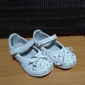 Удобные туфли, 23р., кожаная стелька, супинатор.
