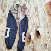 Стильні брюки, штани спортивні джоггери 158 ,довж 89/67