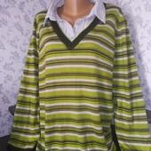 Женский свитер обманка. Размер 64