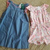 Новые платье и ромплер на 8-9лет, одним лотом.