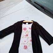 Стоп!! Фирменный удобный яркий натуральный реглан- обманка футболка