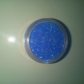 Гліттер синій флюорисцентний, в баночці♡за бліц ціну приємний подаруночок