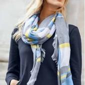 Многоцветная шаль для стильного образа от Tchibo (германия) размер 100 на 200 см