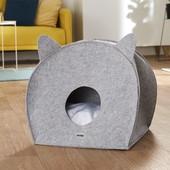 Домик для кошек Zoofari с милыми ушками и мягкой подушкой)