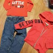 стильный лот для мальчика, деми джинсы+кофта+реглан