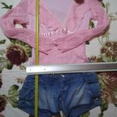 Шорты из облегченного джинса, кофточка в подарок