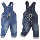 Джинсовый комбинезон брюки-джоггеры на ребенка от Lupilu р.92+