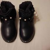 Демисезонные кожаные ботинки 14 см