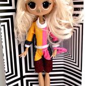 Светится в темноте!!!Красивая шарнирная кукла Лол.27см.
