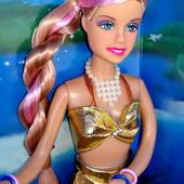 Последняя!!!кукла русалочка Defa (фото мои)ручки и ноги гнутся.в золотой одежде