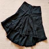 36-38р. Льняная юбка со шлейфом I Blues (концерн MaxMara)