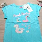 Польша!!! Суперовая футболка для девочки! 122 рост! 429 грн по ценнику! Цвет светлее!