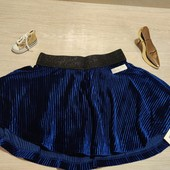 Name it!!! Нарядная велюровая юбка для девочки! 104 рост!