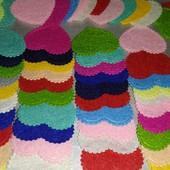 Фетровые сердечки для детского творчества 100шт(фото1)