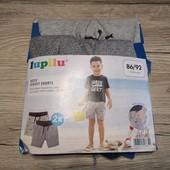 Новая партия! Детские шорты на мальчика 2 шт в лоте размер 86-92 12-24 м