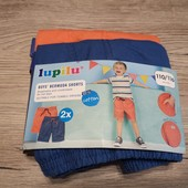 Новая партия! Детские шорты бермуды на мальчика 2 шт в наборе размер 110-116 см рост 4-6 лет