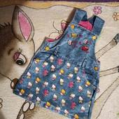 джинсовый сарафанчик на девочку и тепленькая водолазка