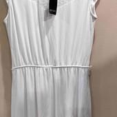 Esmara белое платье с шитьем L 44-46