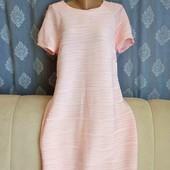 Новое, платье пудрового цвета с фактурной ткани, Atmosphere, p. L-XL