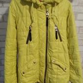 Куртка деми для девочки 9-11 лет, в хорошем состоянии, смотрите замеры