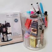 Органайзер для хранения косметики 360° Rotation Cosmetic Organizer - прозрачный