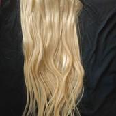 Настоящие волосы на заколках длина 60см