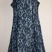 нарядное гипюровое платье сост нового 38/М.