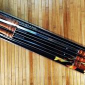 Набор шампуров из нержавеющий стали 6 штук с деревянной ручкой 60 см | Шампура | Набір шампурів