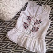 Очень красивая хб блуза с вышивкой Marcs&Spenser. p. 8/s