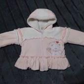 Плюшевая курточка с махровой подкладкой.