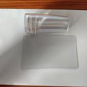 Набор для стемпинга. Штамп силикон и скребок