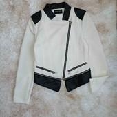 Стильная Куртка Косуха Свитшот Кофта с кожаными вставками