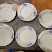 Тарелки мелкие -17,5 см в лоте 6 штук